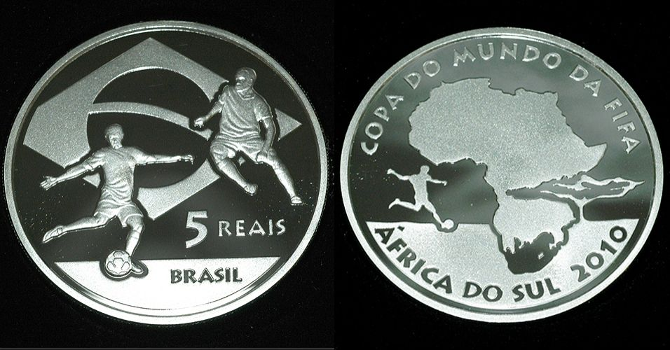 Cinco reais - moeda comemorativa da Copa 2010