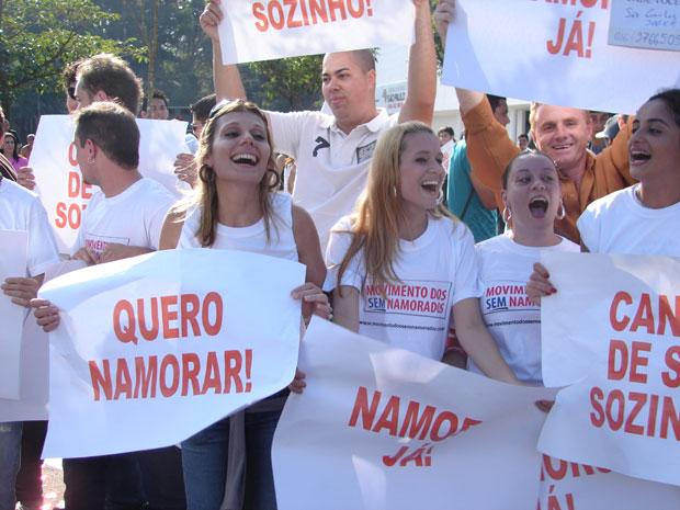 Evento reuniu pessoas em busca de namorados no Parque do Ibirapuera, Zona Sul de São Paulo