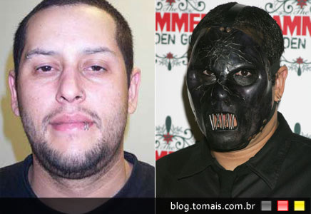 O rosto de Paul Derick Gray, baixista do Slipknot