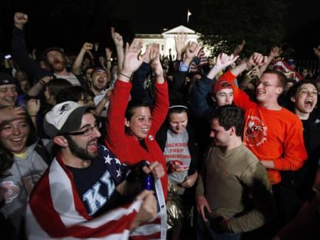 norte americanos comemoram morte de Bin Laden